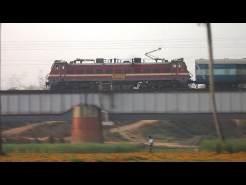 DATE-24th JANUARY 2014 TRAIN- HWH=CSTM WEEKLY EXPRESS LOCO- SRC WAP-4 #22892 LOCATION-COSSYE BRIDGE CAMERA-NIKON L27 Watch as the weekly Mumbai CST Express s...