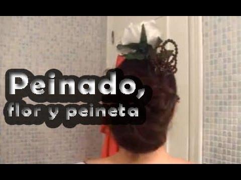 Peinado y flor de flamenca - Pretty and Olé