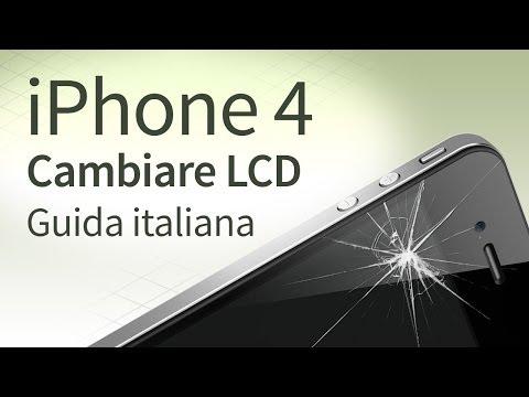 iPhone 4 Sostituire e Cambiare vetro. LCD. Touchscreen [guida italiana]