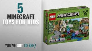 Top 10 Minecraft Toys For Kids [2018]: LEGO Minecraft The Iron Golem 21123