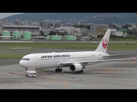 伊丹空港 JAL B767-300 JA656J - Ground Handling