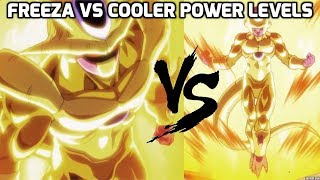 FRIEZA VS COOLER POWER LEVELS OVER THE YEARS (DBZ/DBS/DBH)