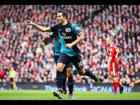 Liverpool 1-2 Arsenal | Robin van Persie goals delight Arsene Wenger