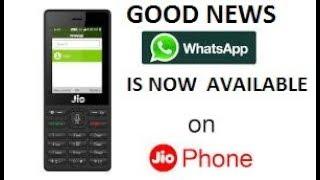 WhatsApp available in jio phone good news Ask charan avidi 