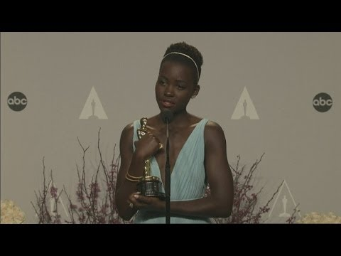 Oscars 2014 Winners Room: Lupita Nyong'o dedicates Oscar win to her 'amazing' parents