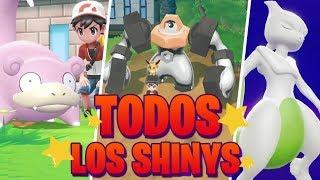 Todos los Pokémon SHINY de Pokémon Lets Go Pikachu Eevee