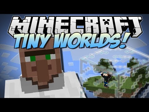 Minecraft   TINY WORLDS & GIANT MOBS! (Little Blocks & Gulliver!)   Mod Showcase