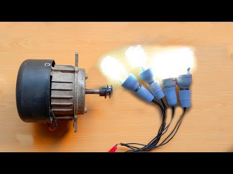 How To Make Free Energy Generator 220V From Washing Machine Motor. DIY Free Energy Generator. thumbnail