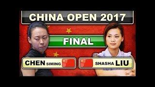 [Billiards 2017] Liu ShaSha 刘莎莎 v Chen Siming 陳思明 | FINAL China Open 9-ball Pool Women 2017
