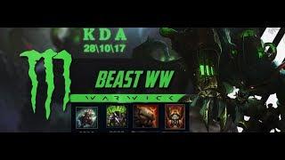 New BEST Warwick Build jungle full gameplay!!insane damge!!league of legends