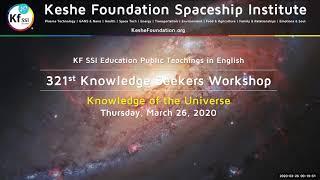 321st Knowledge Seekers Workshop March 26, 2020