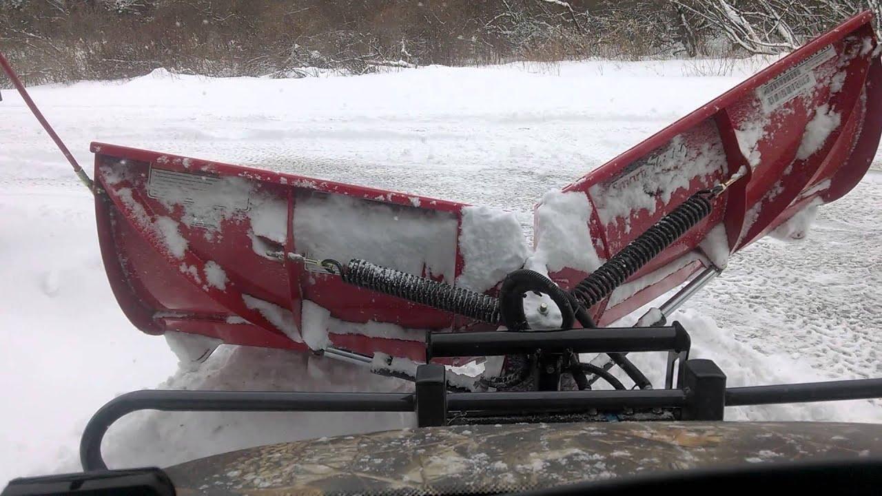 Kubota Snow Plow >> Kubota rtv 1100 w/Boss V-Plow - YouTube