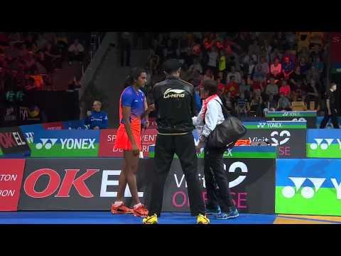 Yonex Denmark Open 2015 | Badminton QF M4-WS | Wang Yihan vs P.V. Sindhu