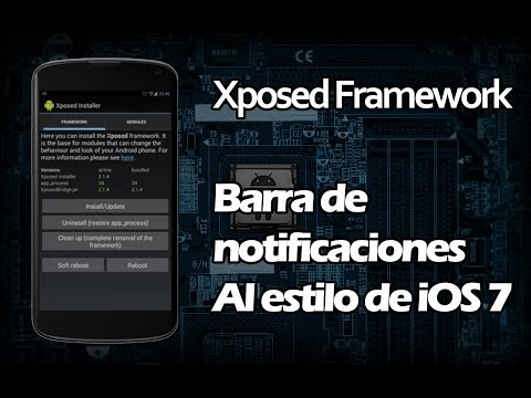 Barra de notificaciones estilo ios7 en Android