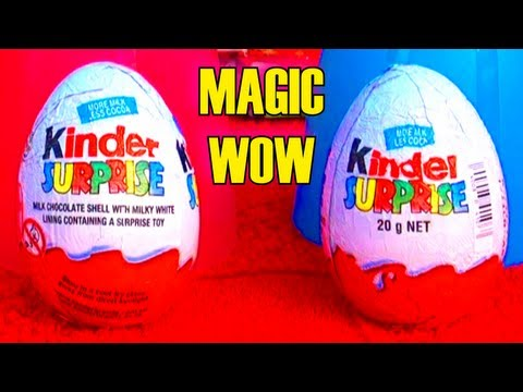 Fun Magic Tricks with Kinder Surprise Eggs!