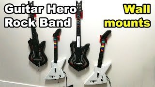 Guitar Hero Rock Band wall mount hangers