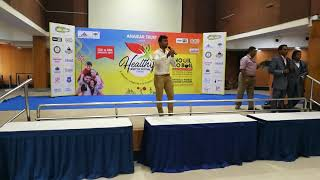 Chennai Event Emcee Lambo Kanna hosted Healthy Lifestyle program conducted by Airport Authority