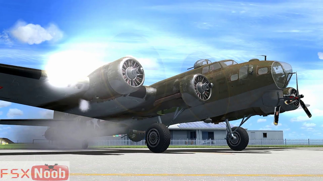 FSX A2A B-17 'Blonde Bomber' - YouTube