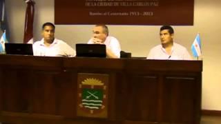Sesi�n 27 Diciembre 2013 Concejo Representantes Carlos Paz - Tema: Subsidio A Instituto Mariette Ly