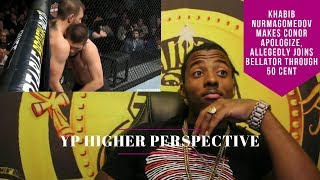 YOUNG PHARAOH™- KHABIB NURMAGOMEDOV MAKES CONOR APOLOGIZE, ALLEGEDLY JOINS BELLATOR THROUGH 50 CENT