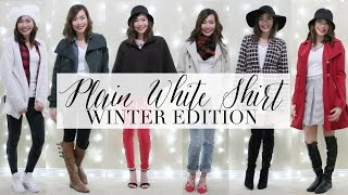 How to Style: Plain White Shirt | Winter Edition