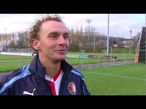 Golfer van het jaar Joost Luiten traint mee met Feyenoord