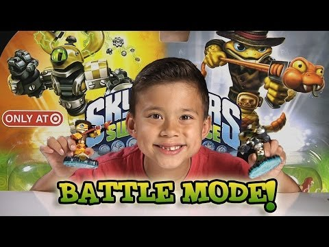 Exclusive NITRO MAGNA CHARGE vs. RATTLE SHAKE - BATTLE MODE! Swap Force Unboxing. Review. Gameplay