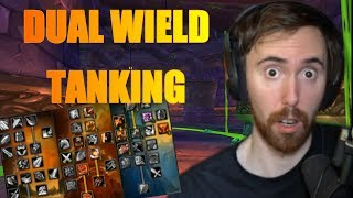 Asmongold Reacts To Double Dual Wield Videos -  Skarm Tank