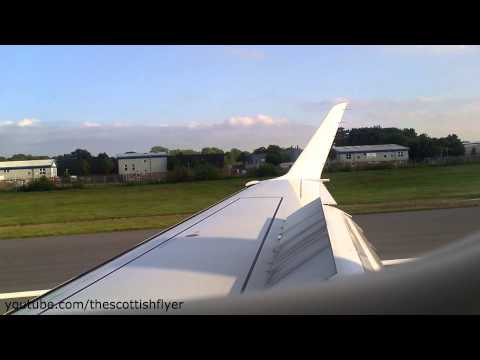 Flybe Embraer ERJ195 Landing At London Gatwick Airport - 10th June 2013 - [HD 1080p]