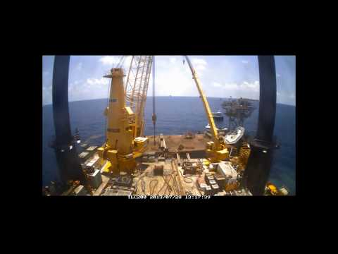 Nautilus Marine Cranes on-board the Montco Offshore Liftboat Robert