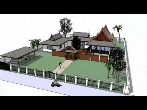 Thai house design idea youtube for Garden design ideas thailand