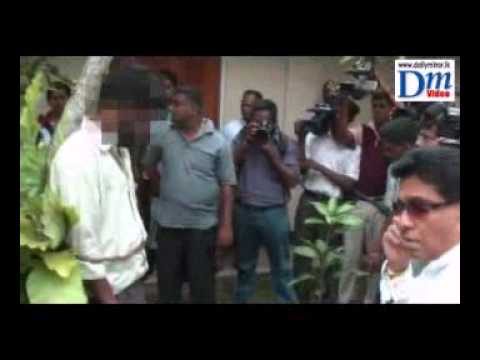 Minister Mervin Silva binds a man to a tree in public for failing to do his job - Ancient Punishment