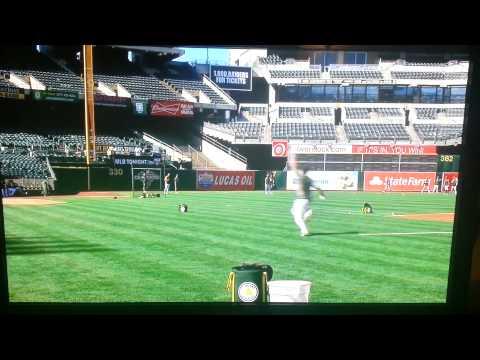 Josh Donaldson hits the Overstock bullseye.