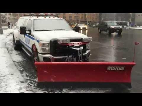 WALK AROUND OF BRAND NEW 2015 NYPD TRANSIT BUREAU OF MANHATTAN UNIT SPORTING SNOW PLOW IN NYC.