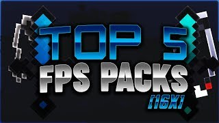 Top 5 Best FPS Packs! (16x) - Minecraft Hypixel Skywars