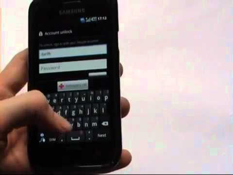 how to unlock samsung galaxy s (too many pattern attempts) - YouTube.flv