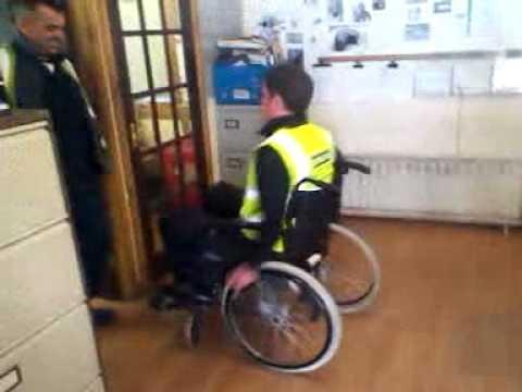 Lunchtime Wheelchair balance challenge