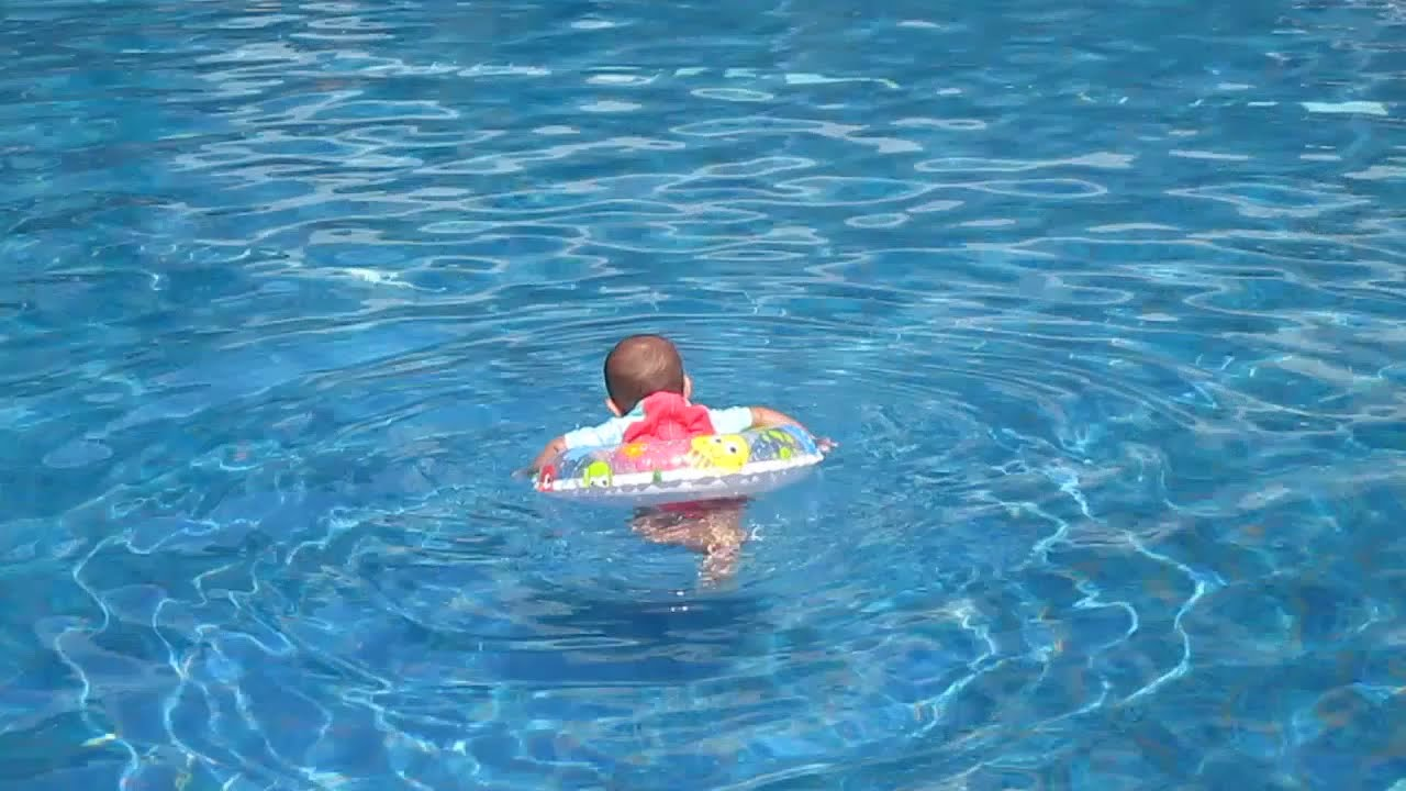Baby swimming gif