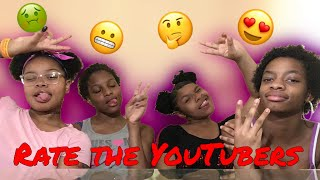 RATING YOUTUBERS! || Dk4l, Goldjuice, The Prince Family, etc!!
