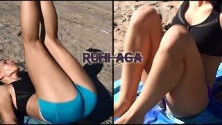 Bikinili Modelden 4 Farklı Karın Egzersizi