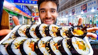 LIVING on TRADITIONAL KOREAN STREET FOOD for 24 HOURS!