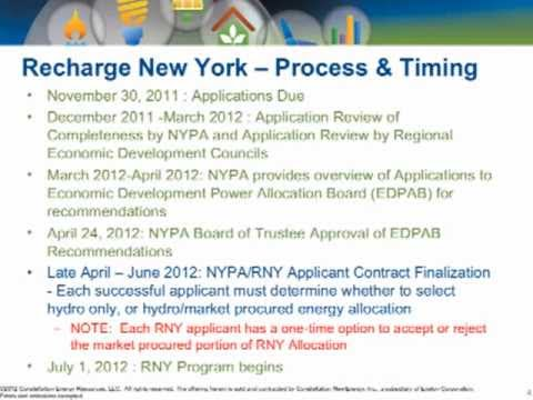 Constellation Energy & Business Council of New York State ReCharge New York Webinar - Part One