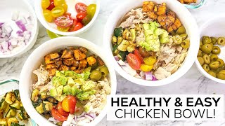 Healthy & Easy MEDITERRANEAN CHICKEN BOWL | Meal Prep Ideas | Protein Packed & Gluten-Free!