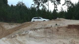 "q7 ""offroading"" in sand"