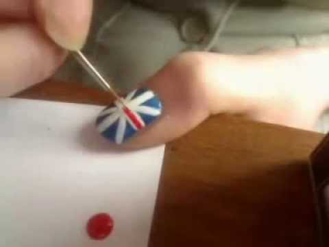 Nail art tutorial: British flag