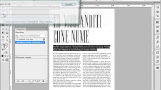 Inserer un hyperlien dans Indesign CS6