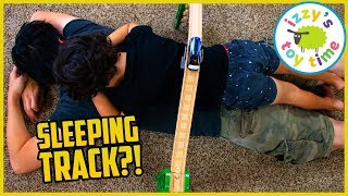 MOM BUILDS TRACK WHILE WE SLEEP?! Thomas and Friends Fun Toy Trains for Kids