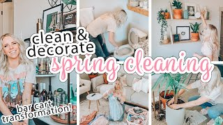 SPRING CLEAN + DECORATE WITH ME 2020 / BAR CART TRANSFORMATION! / Caitlyn Neier