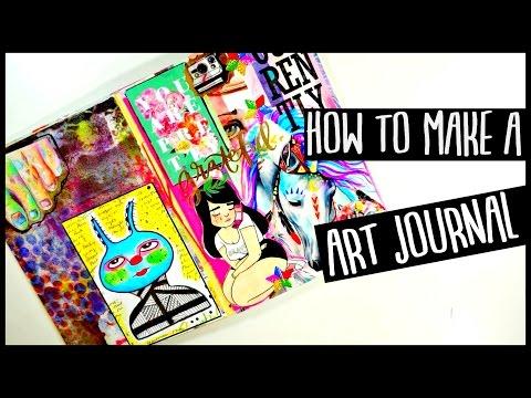 HOW TO MAKE AN ART JOURNAL | For Beginners | Process Video