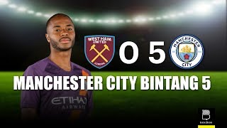 Review Liga Inggris: West Ham United 0 - 5 Manchester City
